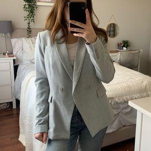 Light Grey Blazer   Oversized Blazer